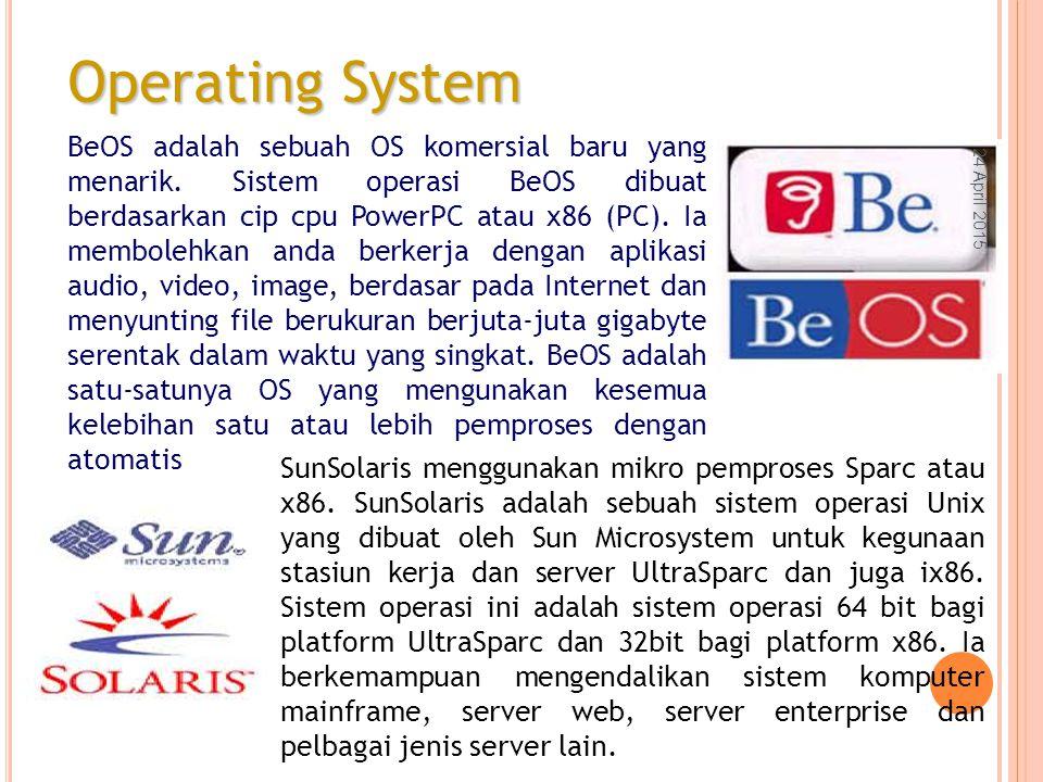 BeOS adalah sebuah OS komersial baru yang menarik.