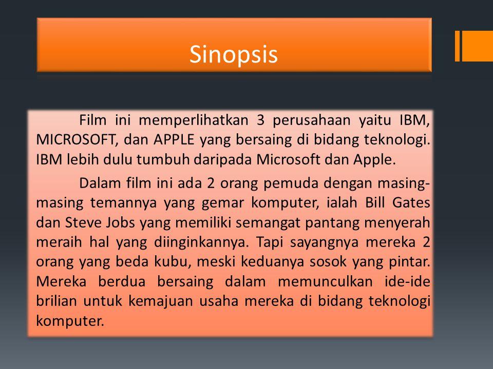 Film ini memperlihatkan 3 perusahaan yaitu IBM, MICROSOFT, dan APPLE yang bersaing di bidang teknologi. IBM lebih dulu tumbuh daripada Microsoft dan A