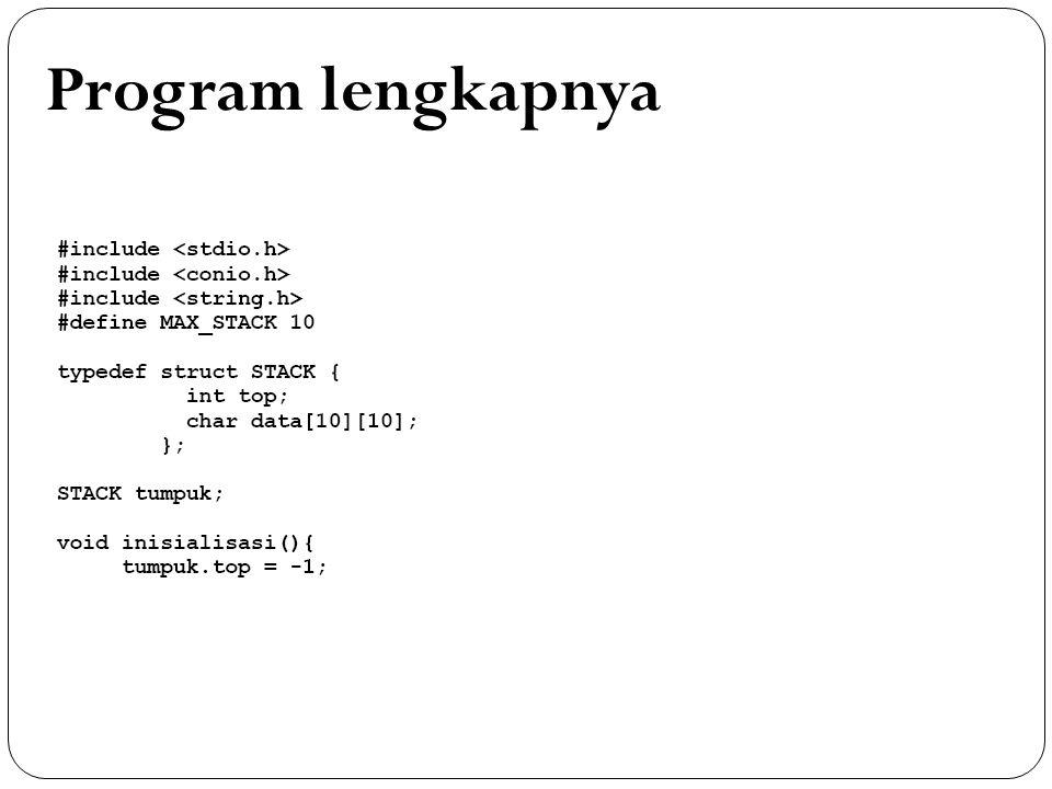 Program lengkapnya