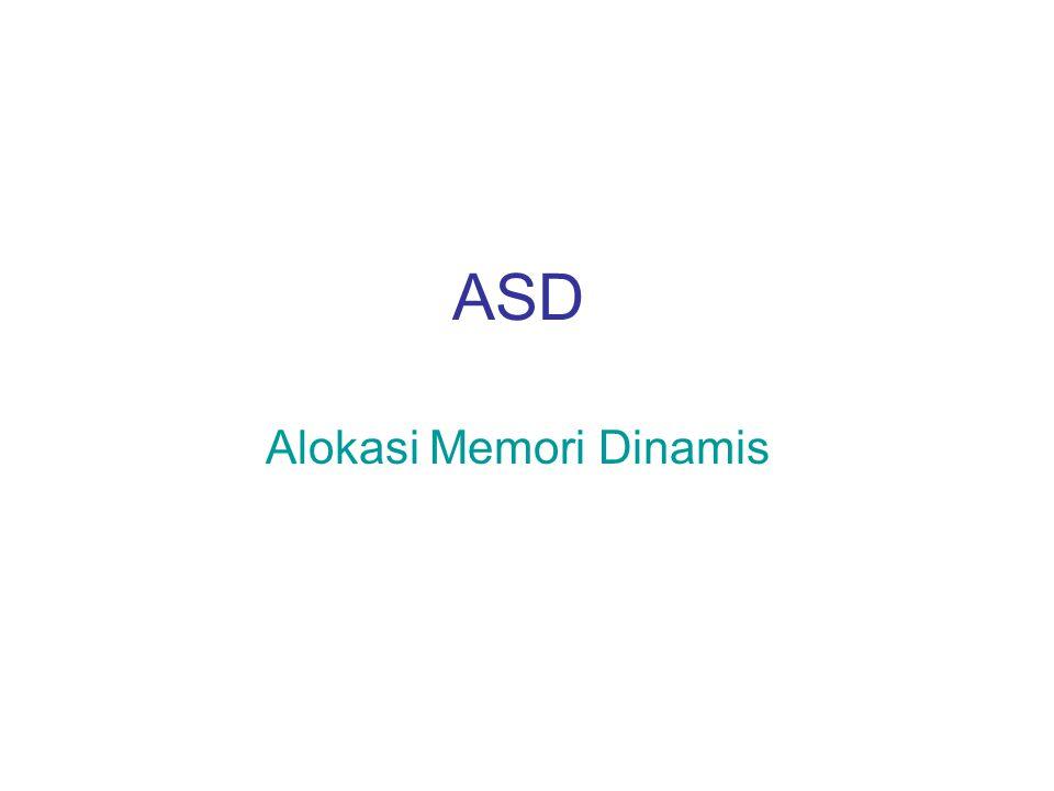 ASD Alokasi Memori Dinamis