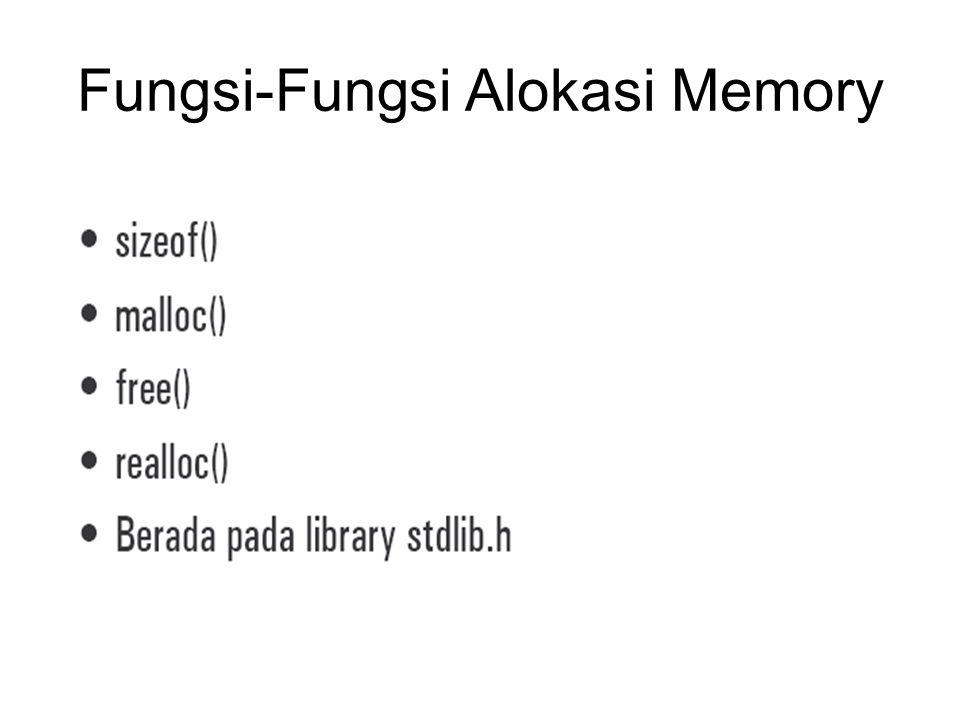 Fungsi-Fungsi Alokasi Memory
