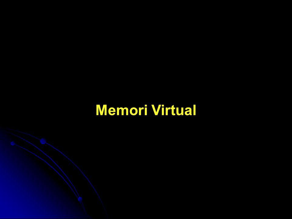 Konsep dasar memori virtual Pengertian Memori virtual merupakan suatu teknik yang memisahkan antara memori logis dan memori fisiknya.