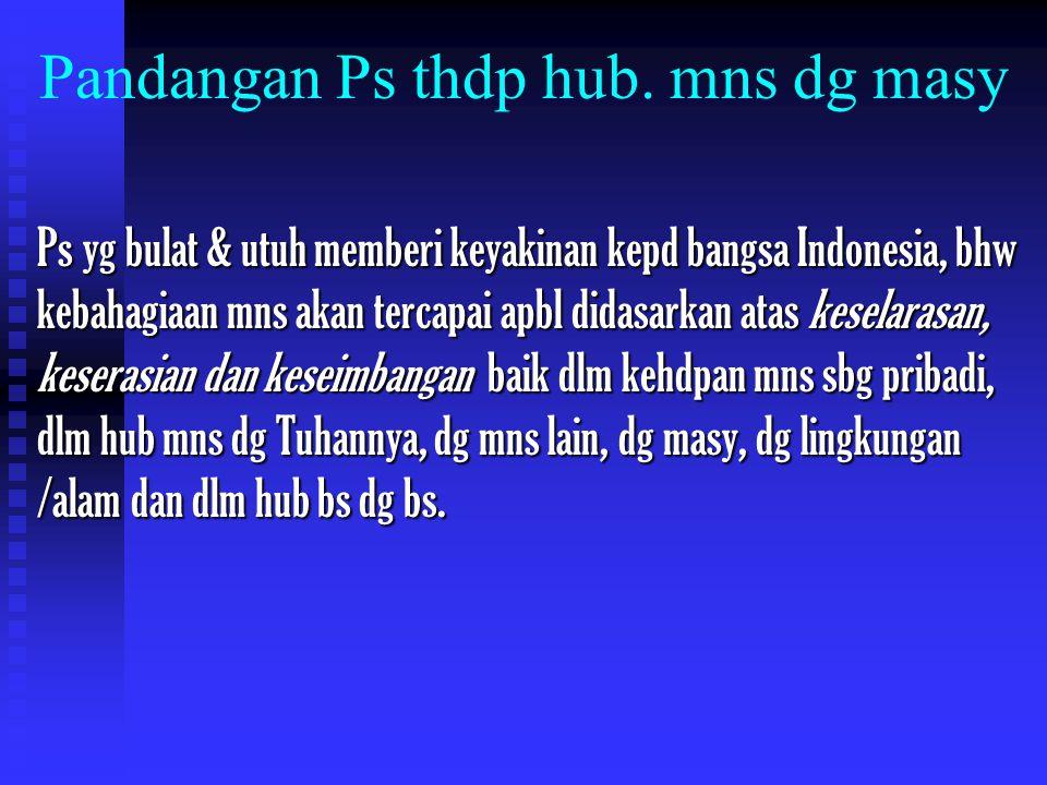 Pandangan Ps thdp hub.