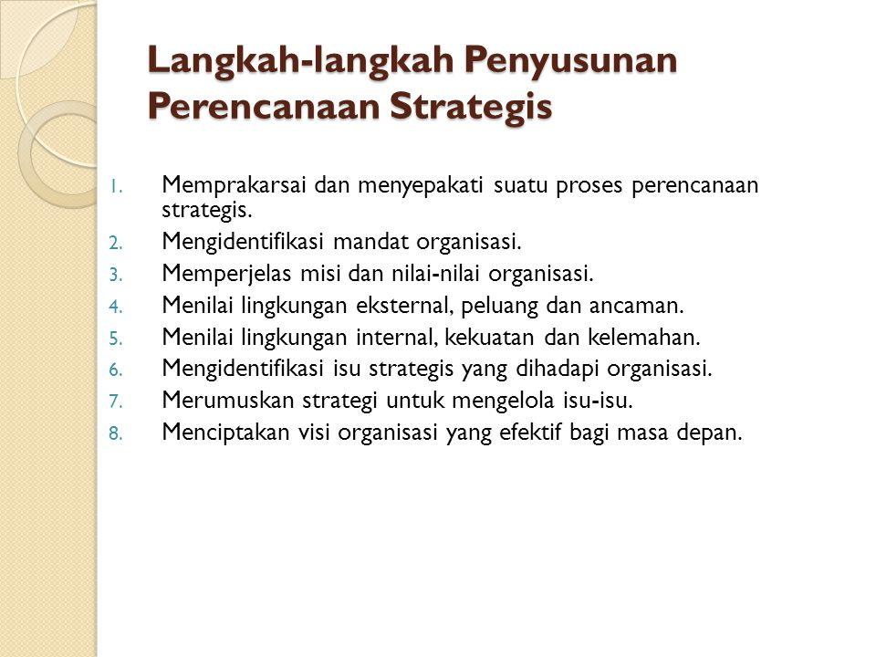 Langkah-langkah Penyusunan Perencanaan Strategis 1.