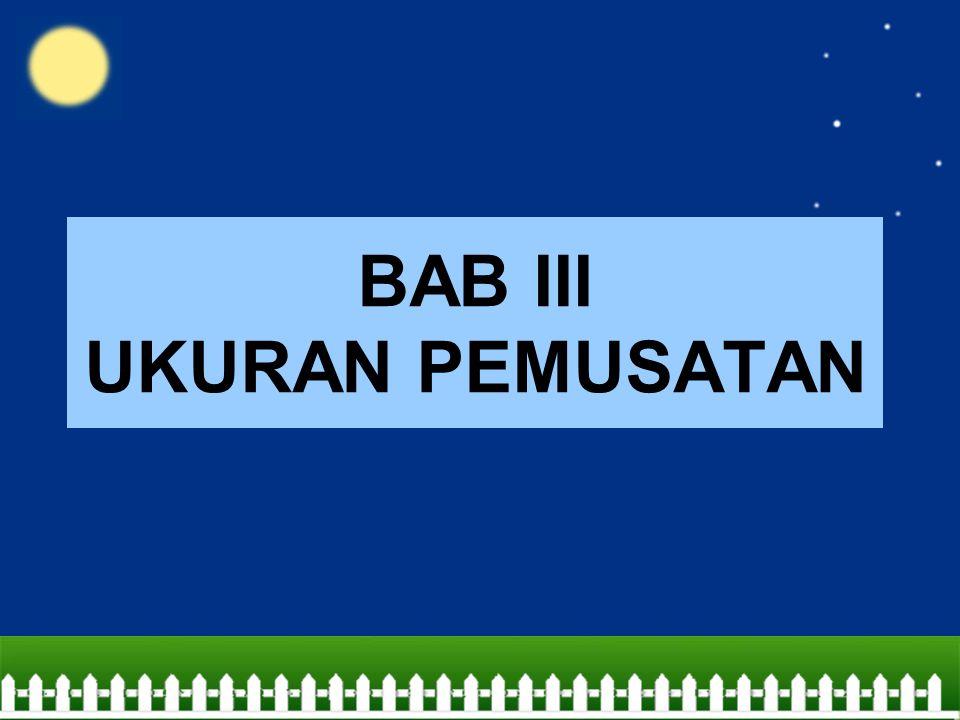 BAB III UKURAN PEMUSATAN