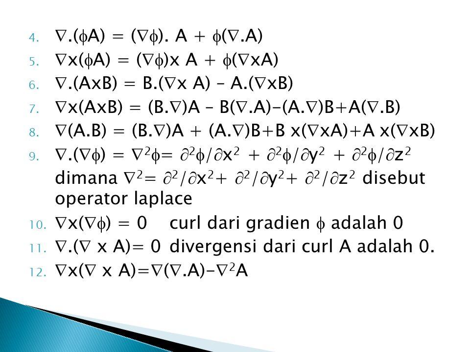 4..(  A) = (  ). A +  ( .A) 5.  x(  A) = (  )x A +  (  xA) 6.