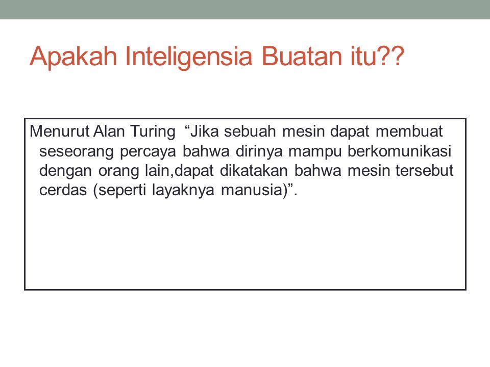 Apakah Inteligensia Buatan itu .