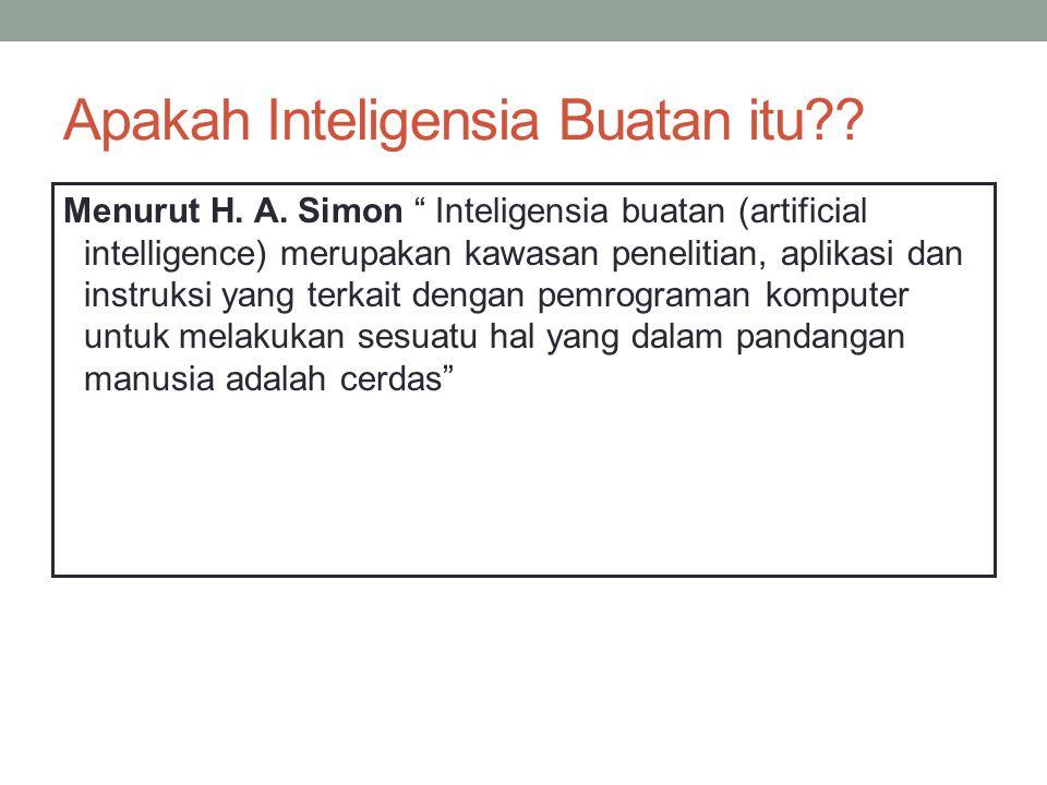 Apakah Inteligensia Buatan itu . Menurut H. A.