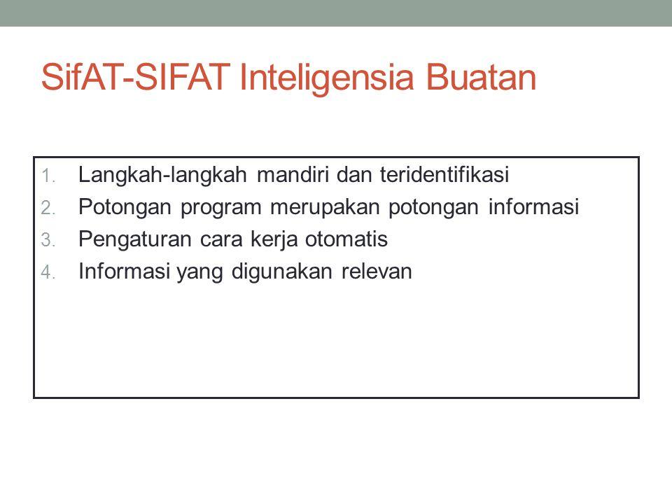 SifAT-SIFAT Inteligensia Buatan 1. Langkah-langkah mandiri dan teridentifikasi 2.