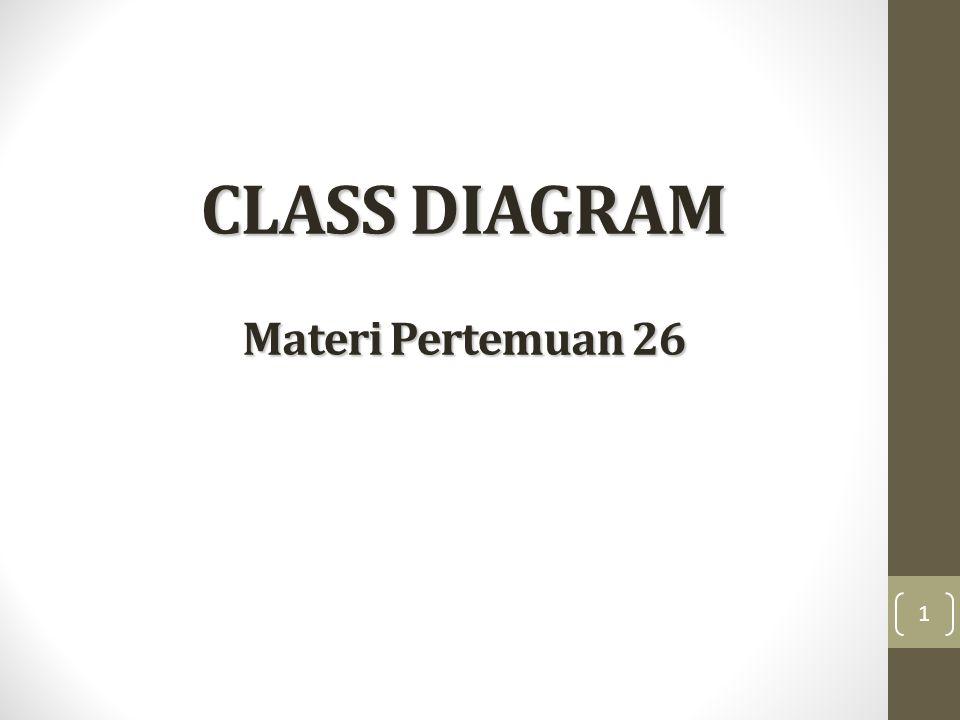 CLASS DIAGRAM Materi Pertemuan 26 1