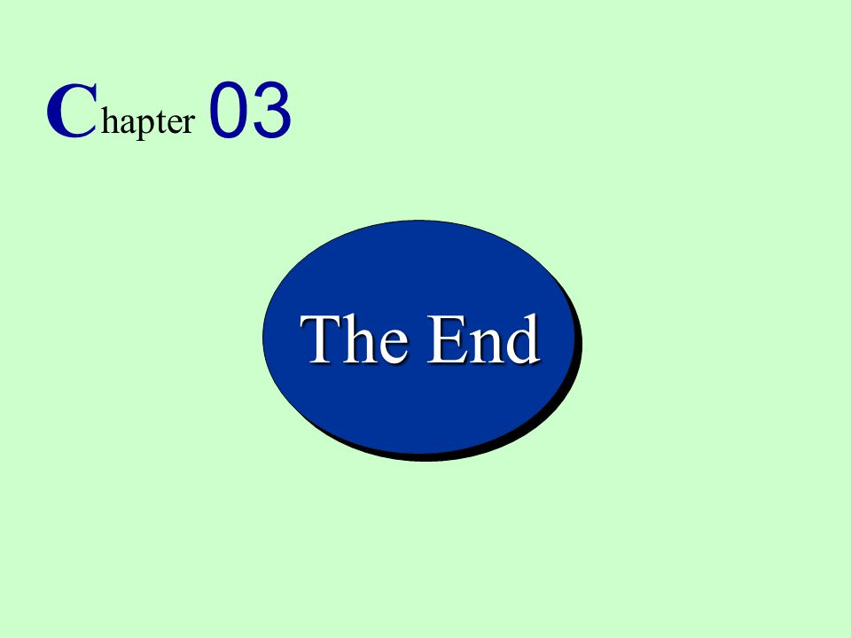 15 C hapter 03 The End