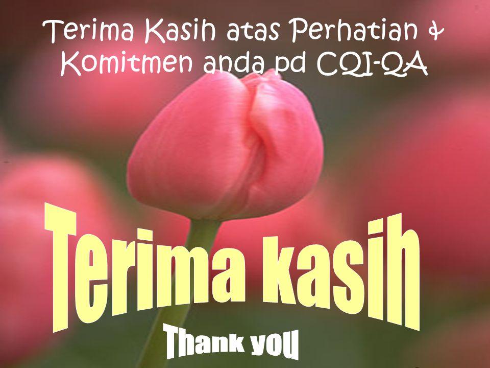 BAN-PT NATIONAL ACCREDITATION AGENCY FOR HIGHER EDUCATION Republic of Indonesia NAAHE is a member of: Terima Kasih atas Perhatian & Komitmen anda pd C