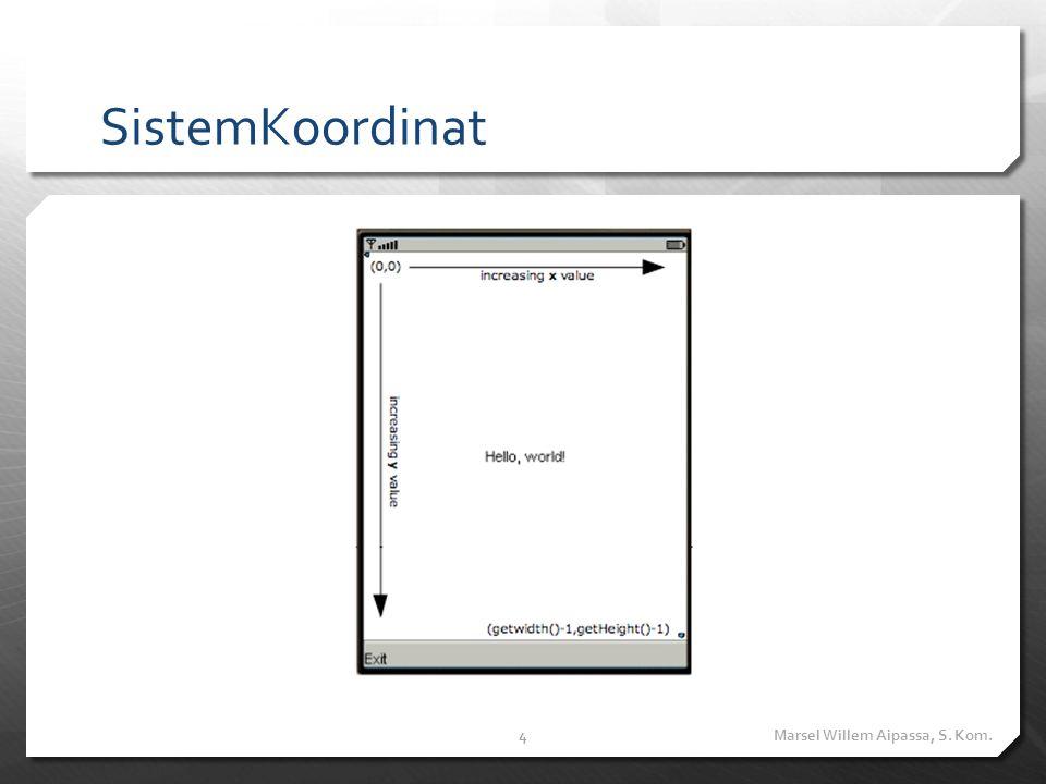 SistemKoordinat Marsel Willem Aipassa, S. Kom.4