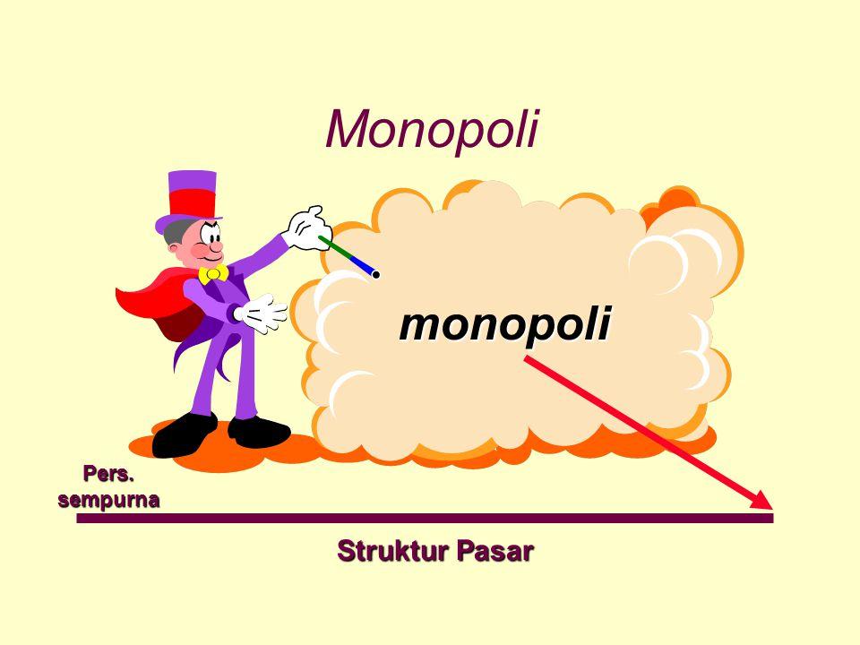 Monopoli monopoli monopoli Struktur Pasar Pers.sempurna