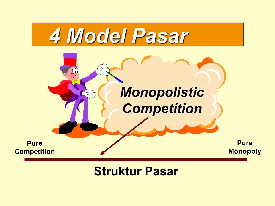 4 Model Pasar Struktur Pasar PureCompetition PureMonopoly MonopolisticCompetition