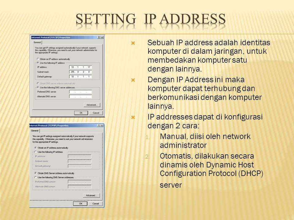 MEMBERI IDENTITAS ( IP )