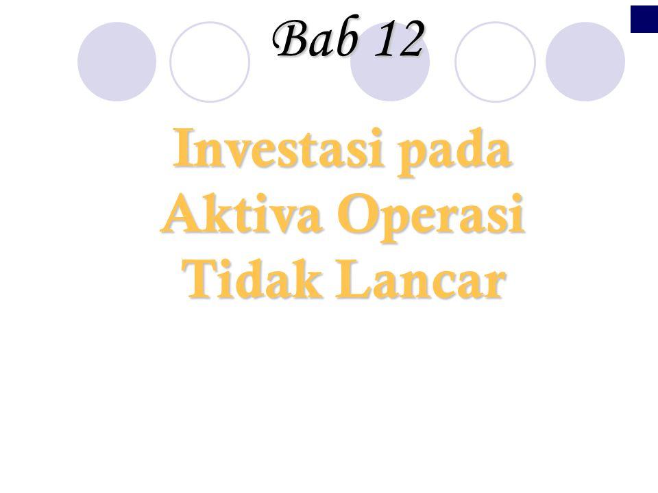 Investasi pada Aktiva Operasi Tidak Lancar Bab12 Bab 12