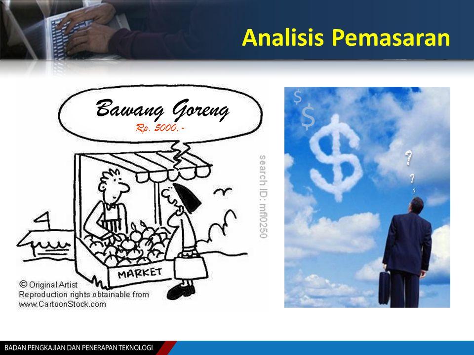 Analisis Pemasaran $ $ ?????? ?????? Bawang Goreng Rp. 5000,-