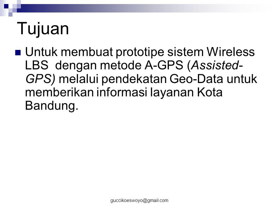 guccikoeswoyo@gmail.com Batasan Masalah Lokasi layanan berada di kota Bandung.