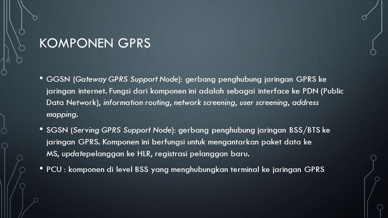 CARA KERJA SGSN bertugas: 1.Mengirim paket ke Mobile Station (MS) dalam satu area.