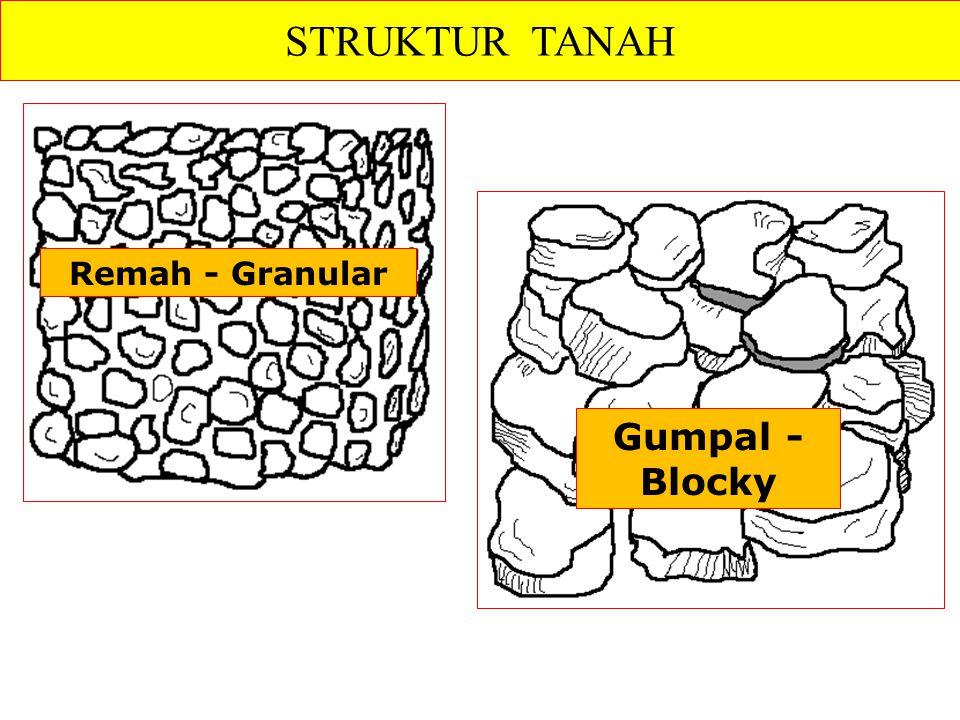 Remah - Granular STRUKTUR TANAH Gumpal - Blocky
