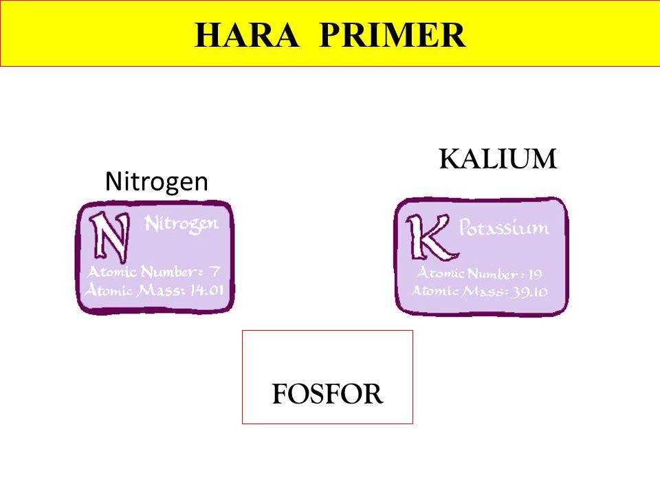 Nitrogen KALIUM FOSFOR HARA PRIMER