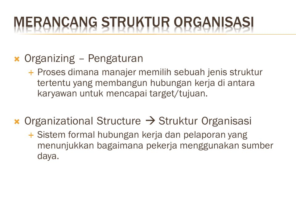 Determine the design of organizational strucutre Organizational Environment Organizational Strategy Human Resources Technology