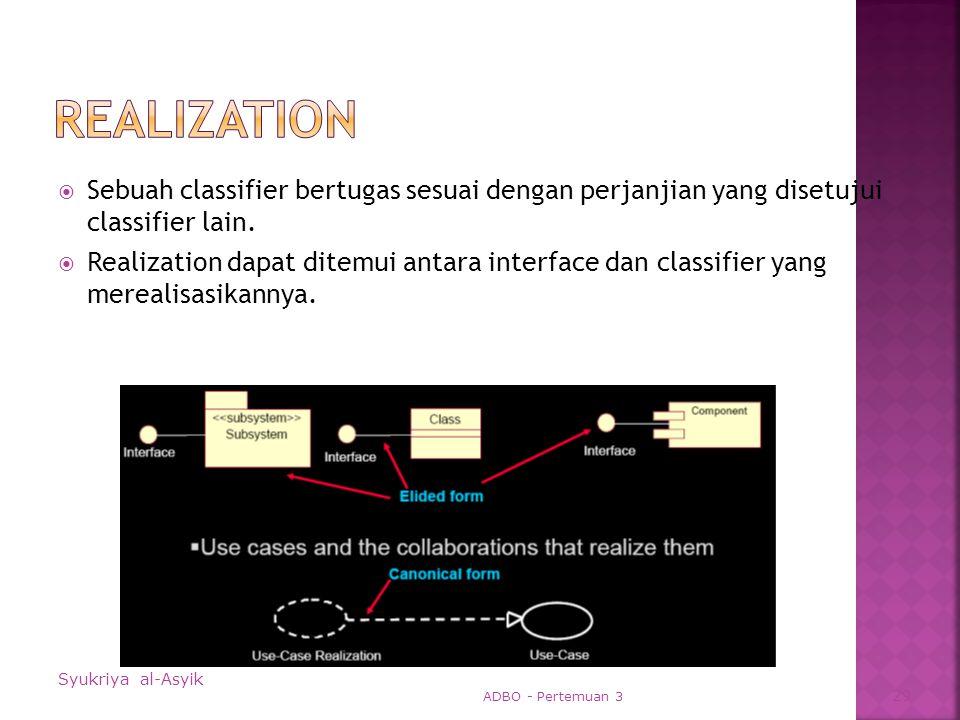  Sebuah classifier bertugas sesuai dengan perjanjian yang disetujui classifier lain.
