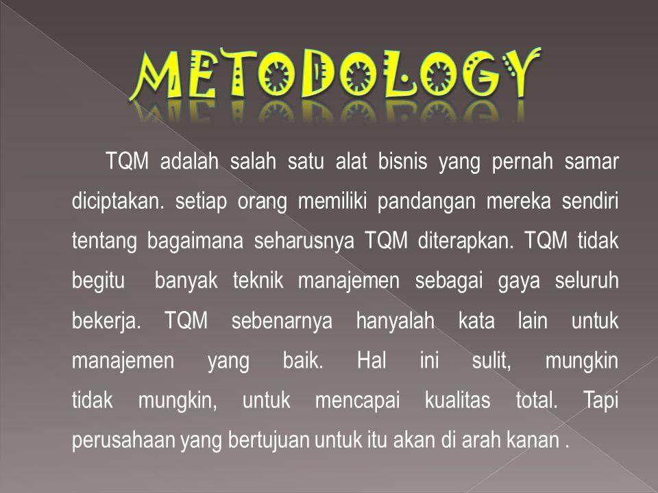 TQM adalah salah satu alat bisnis yang pernah samar diciptakan. setiap orang memiliki pandangan mereka sendiri tentang bagaimana seharusnya TQM ditera