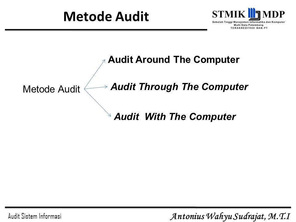Audit Sistem Informasi Antonius Wahyu Sudrajat, M.T.I Tahapan Audit Sistem Informasi Tahapan Audit Subjek AuditTentukan/identifikasi unit/lokasi yang diaudit Sasaran Audit Tentukan sistem secara spesifik, fungsi atau unit organisasi yang akan diperiksa diperiksa Jangkauan Audit Identifikasi sistem secara spesifik, fungsi atau unit organisasi untuk dimasukkan lingkup pemeriksaan dimasukkan lingkup pemeriksaan Rencana Pre-audit 1.Identifikasi kebutuhan keahlian teknik dan sumber daya yang diperlukan untuk audit.