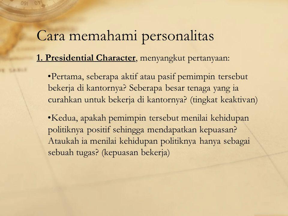Cara memahami personalitas 1.
