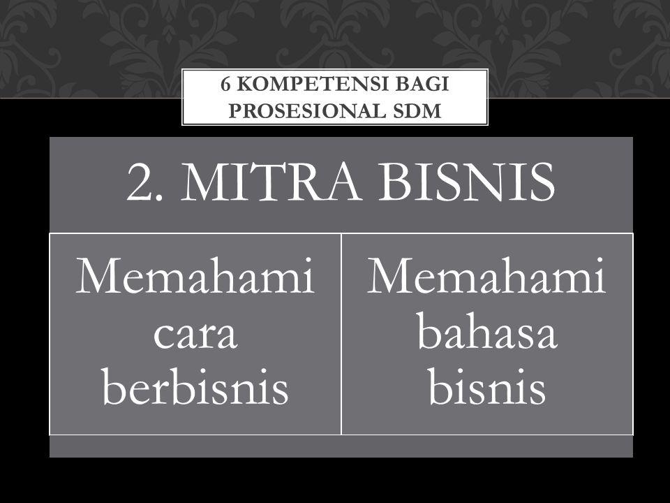 6 KOMPETENSI BAGI PROSESIONAL SDM 3.