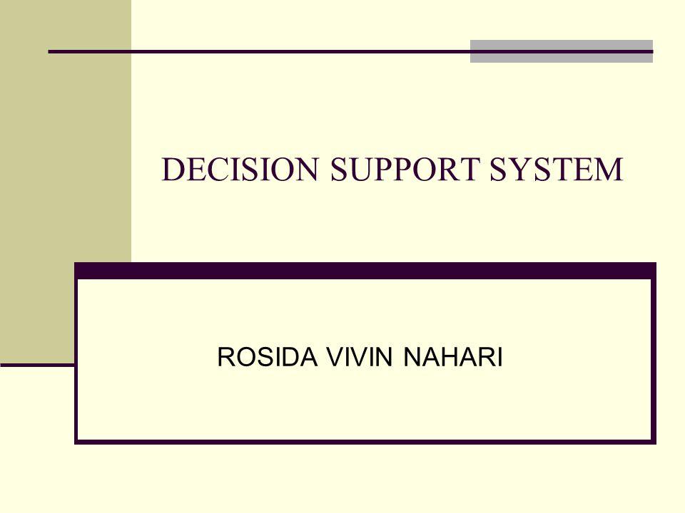 DECISION SUPPORT SYSTEM ROSIDA VIVIN NAHARI