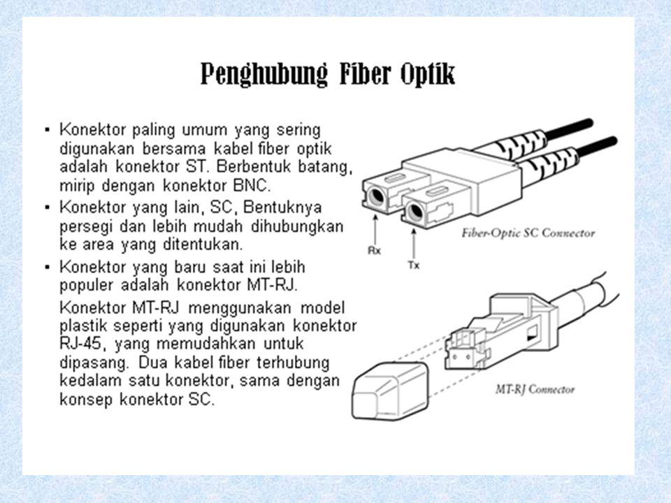  Jaket insulasi luar terbuat dari Teflon atau PVC  Kevlar fiber berfungsi untuk menguatkan kabel dan mengamankan dari kepatahan  Pelindung plastik
