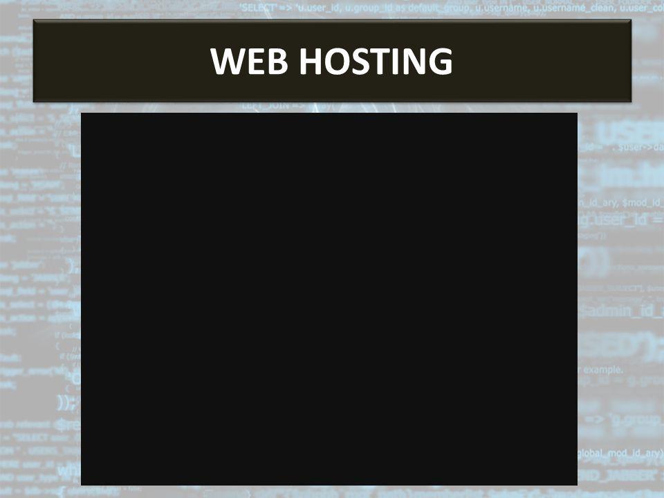 Web Hosting WEB HOSTING