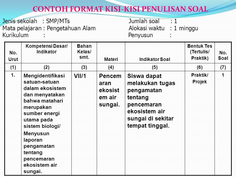 PENILAIAN PENUGASAN (PROJECT) Penilaian penugasan merupakan penilaian tugas (meliputi: pengumpulan, pengorganisasian, pengevaluasian, dan penyajian da