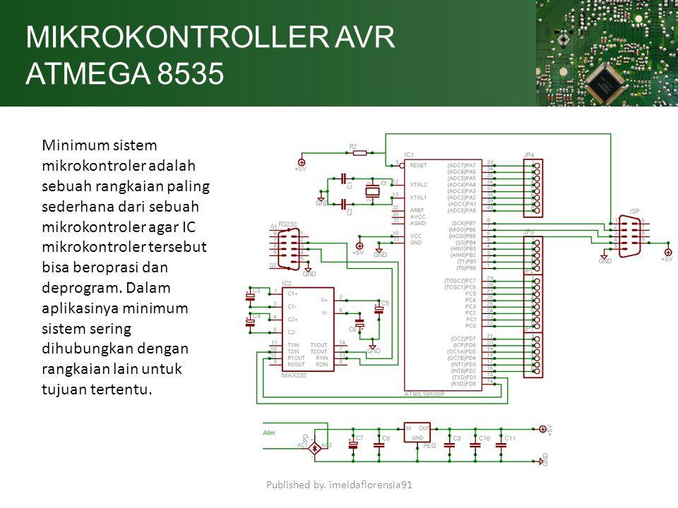 MIKROKONTROLLER AVR ATMEGA 8535 Minimum sistem mikrokontroler adalah sebuah rangkaian paling sederhana dari sebuah mikrokontroler agar IC mikrokontrol