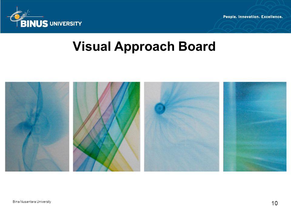 Bina Nusantara University 10 Visual Approach Board