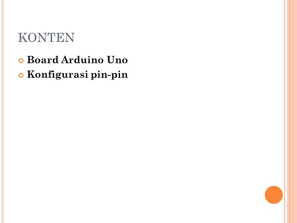 B OARD A RDUINO U NO Komponen utama di dalam papan Arduino adalah sebuah microcontroller 8 bit dengan merk ATmega yang dibuat oleh perusahaan Atmel Corporation Arduino Uno menggunakan ATmega328