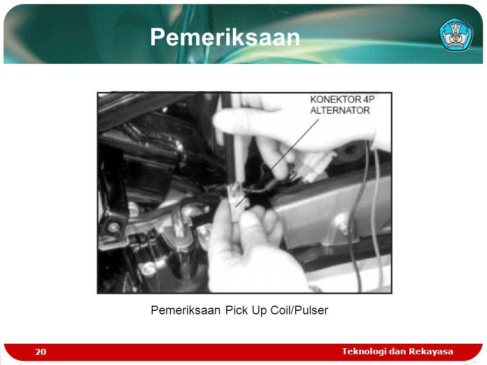 Teknologi dan Rekayasa 20 Pemeriksaan Pick Up Coil/Pulser Pemeriksaan