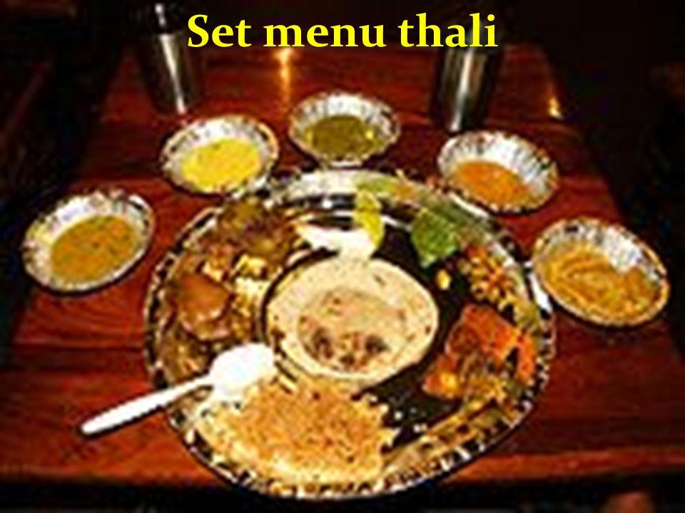 Set menu thali