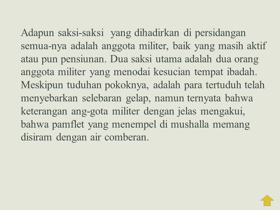 3. Penyelesaian Kasus  Persidangan Kasus Tanjung Priok  Pertama, menyidangkan 4 orang yang ditangkap pada tanggal 10 September.  Kedua, persidangan