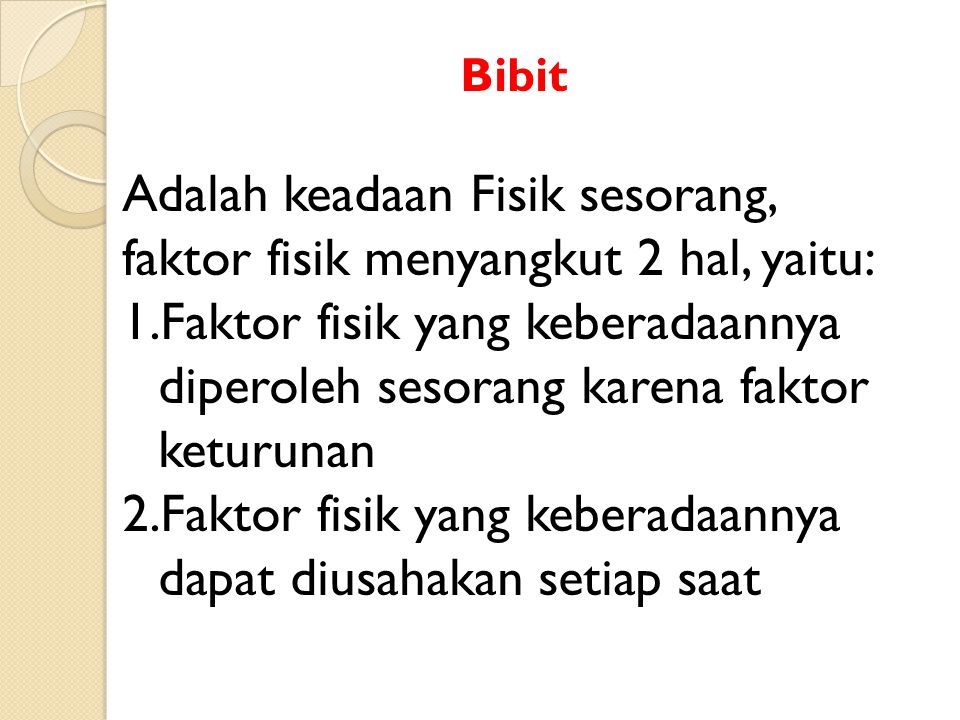 Bibit.........
