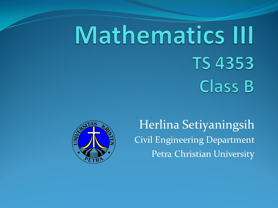 Herlina Setiyaningsih Civil Engineering Department Petra Christian Universit y