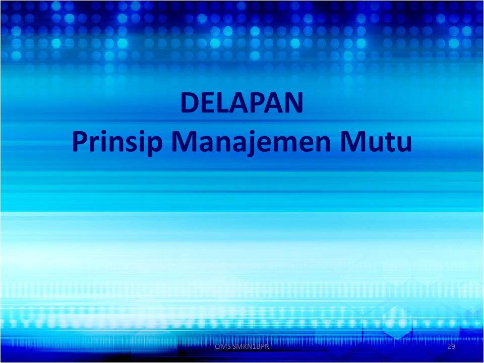 DELAPAN Prinsip Manajemen Mutu 29QMS SMKN1BPN