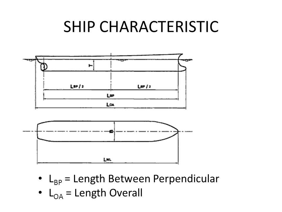SHIP CHARACTERISTIC L BP = Length Between Perpendicular L OA = Length Overall