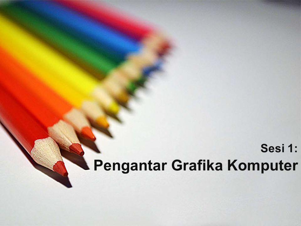 Ringkasan Materi Definisi Grafika Komputer Manfaat Grafika Komputer Elemen-Elemen Dasar Pemrograman Grafis Library OpenGL Materi Grafika Komputer