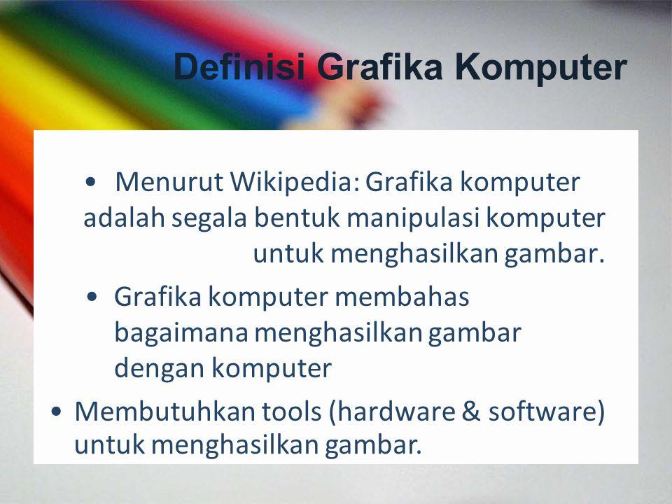 Menurut Wikipedia: Grafika komputer adalah segala bentuk manipulasi komputer untuk menghasilkan gambar. Grafika komputer membahas bagaimana menghasilk