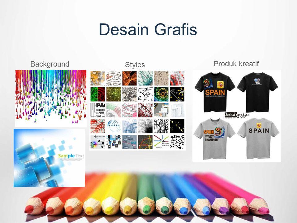 Desain Grafis Background Styles Produk kreatif