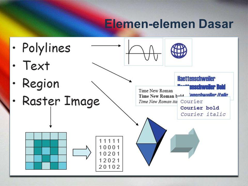 Pemrograman Grafis Sebuah teknik pemrograman yang berorientasi pada manipulasi grafis atau menghasilkan gambar sesuai dengan kebutuhan.